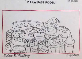 Draw fast food.
