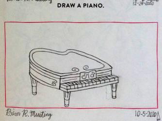Draw a piano.