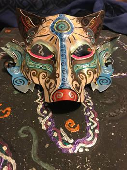 Spiral Wolf Mask(close up)