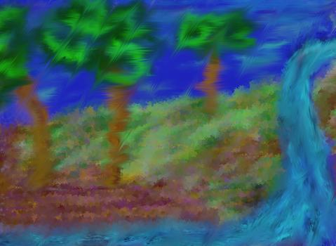 Blurry landscape