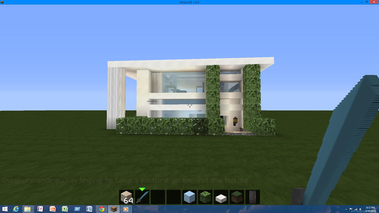 Modern minecraft house 1 by rywar480014806 on deviantart for Modern house in minecraft