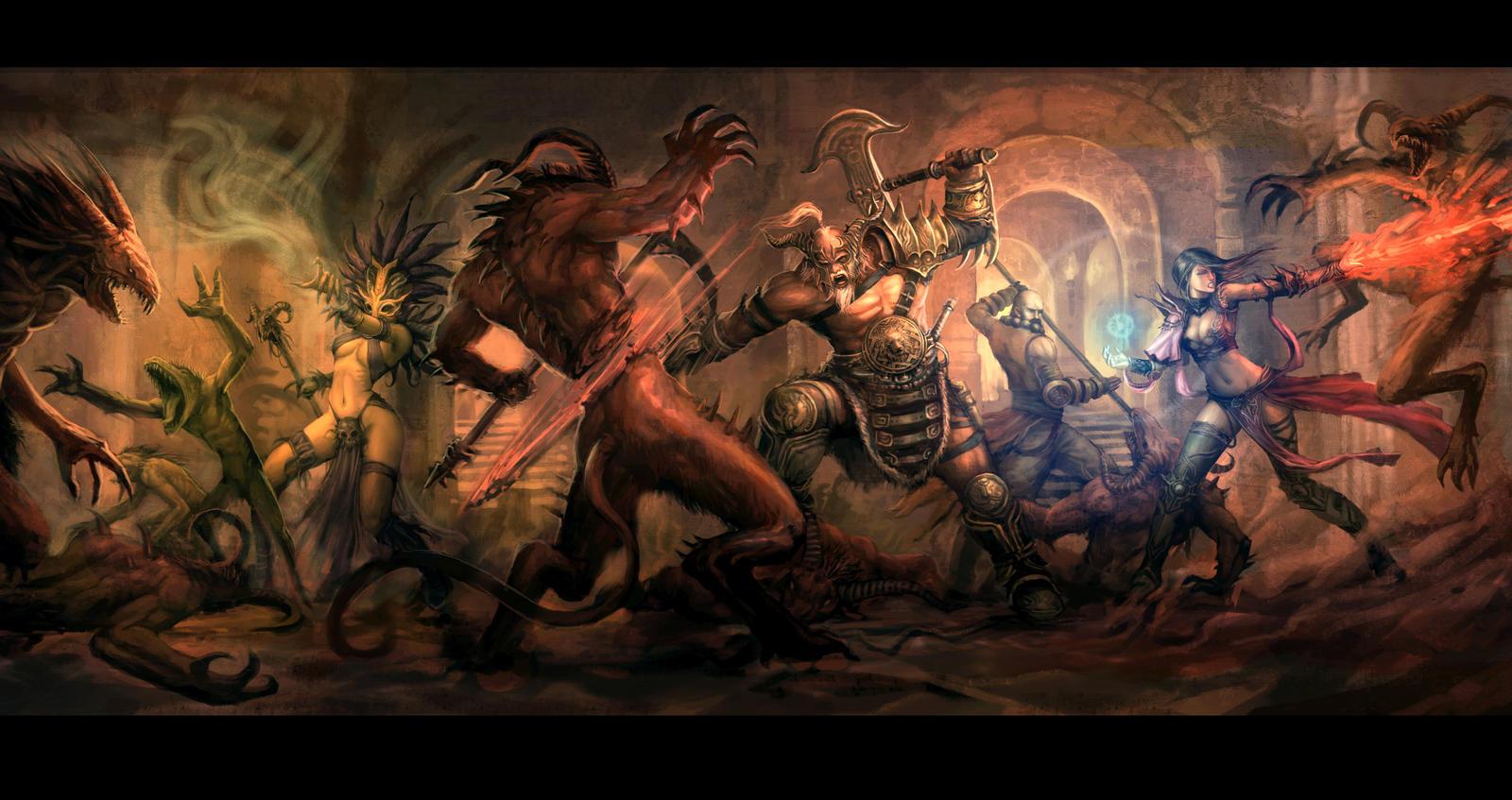 Diablo 3: Dungeon Party by kunkka