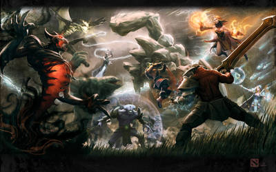 Dota2 Clash of Heroes 1 Redux!