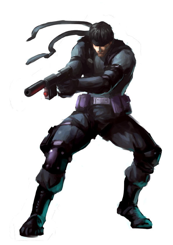 Totally Awesome Illustration of Solid Snake