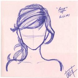 Sketch - hair ref - J, Ruby