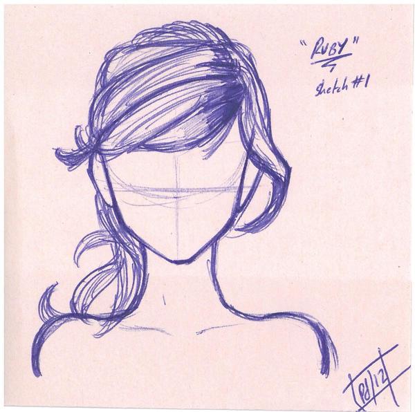 ... hair sketch by kinannti hair braid sketch sketch hair beautiful hair