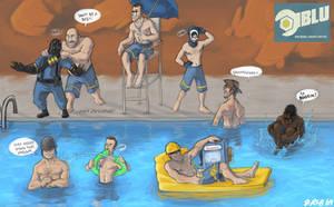 BLU Team Pool Party by Kobb