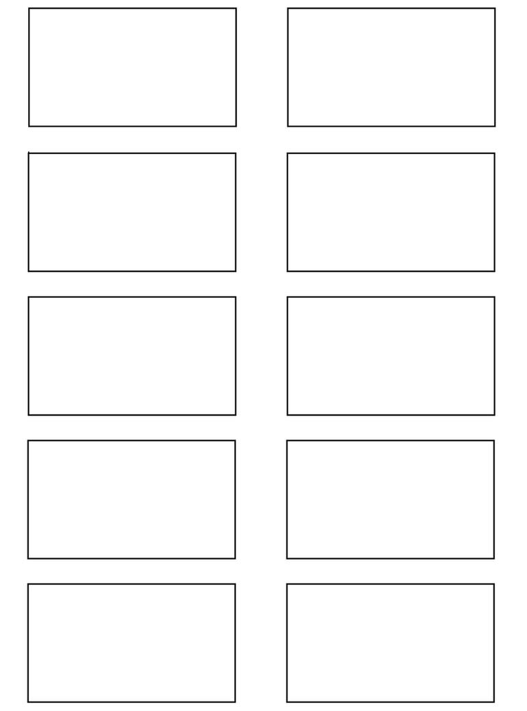 6 box storyboard template .