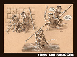 Commission: Jans and Broggen by Kobb