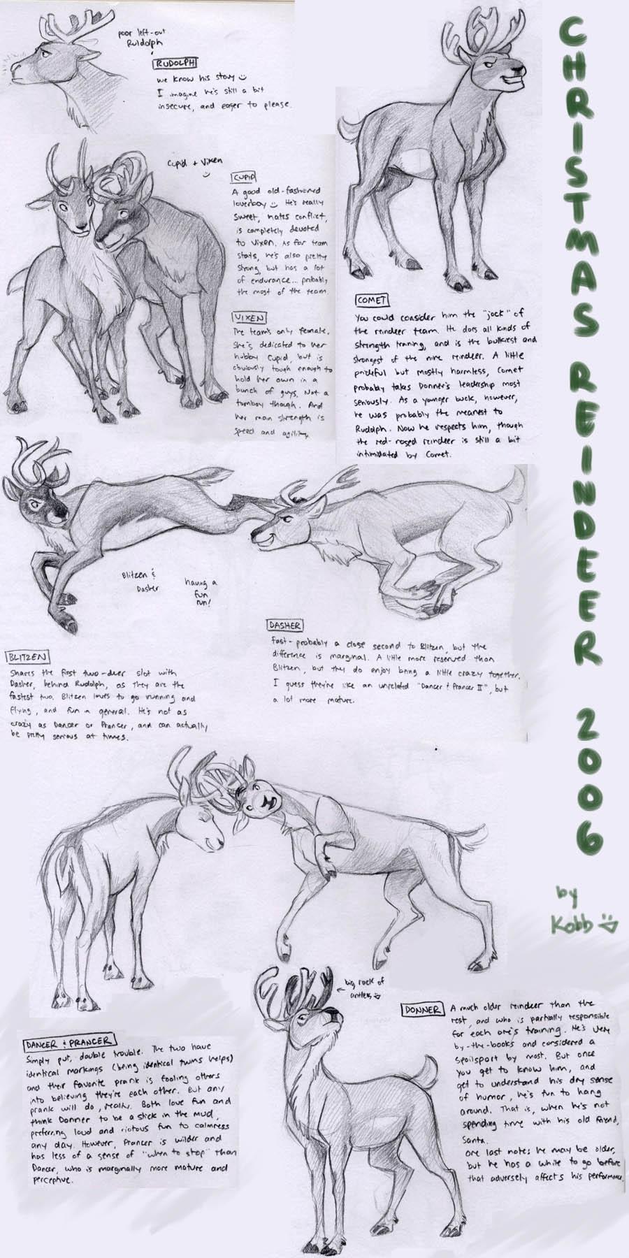 Christmas Reindeer - designs by Kobb