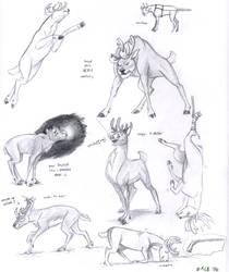 More reindeer- random sketches by Kobb