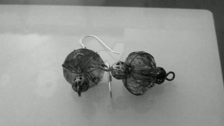 Caged Bead Earrings
