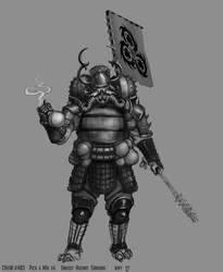 Unholy Hazmat Samurai sketch