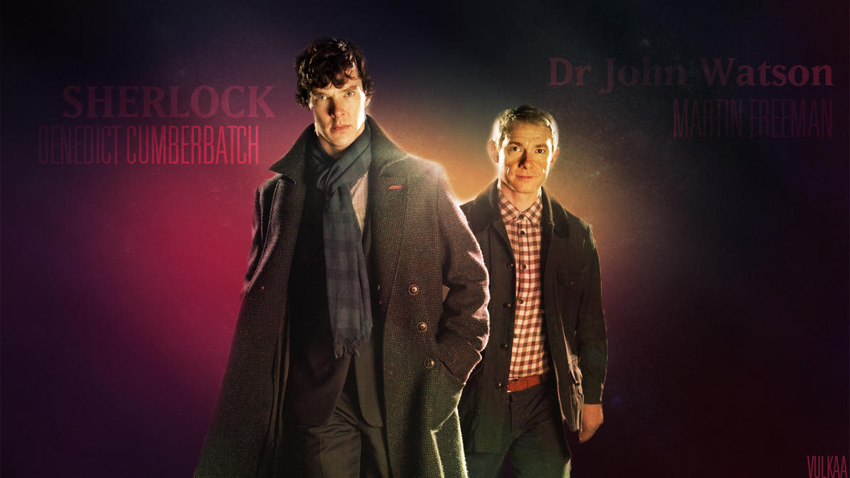 Sherlock Fan Art , Sherlock And Watson ! by Vulkaa
