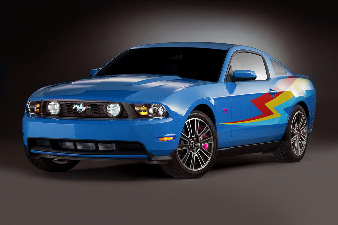 Ford Mustang Rainbow Dash By Microkey On DeviantArt