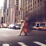 Burning astronaut