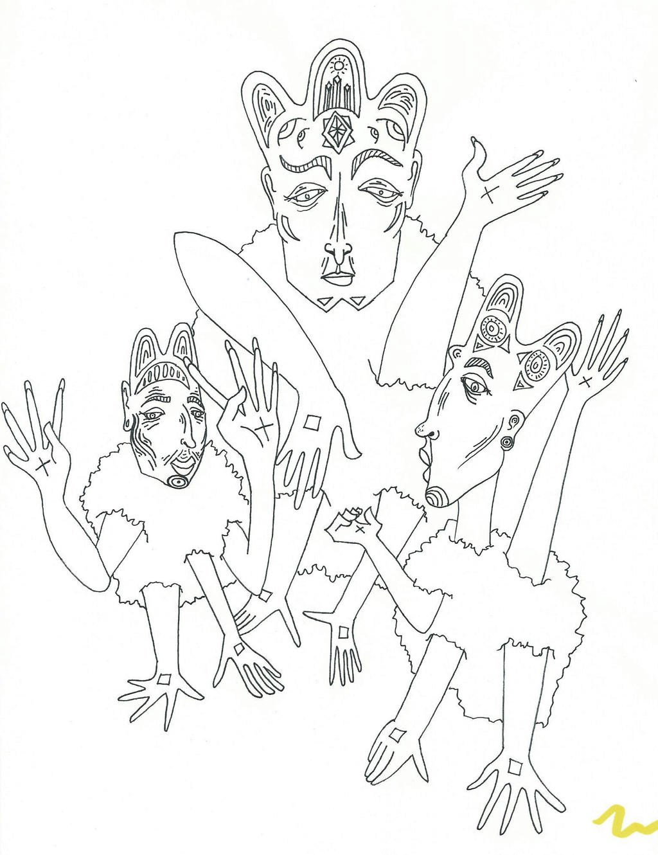 Aztec Sheep Gods by GiraffeRave
