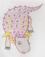Pawpaw the Pawpawsaurus Chibi by AzurethePanda