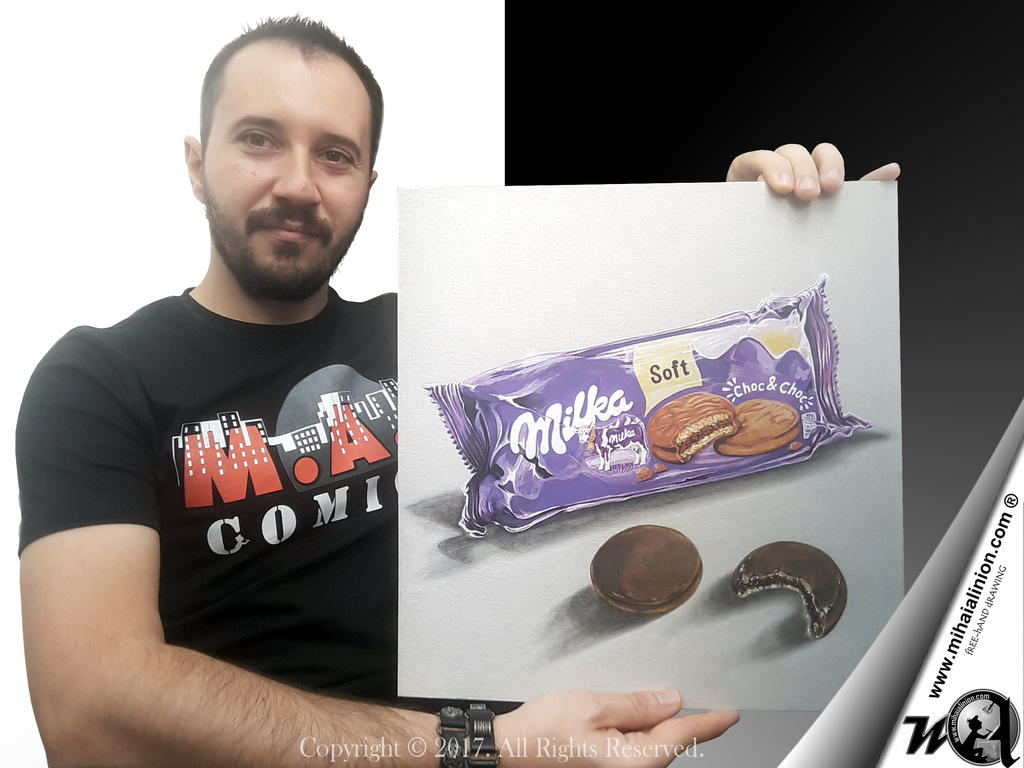 Drawing Milka - Realistic 3D Art
