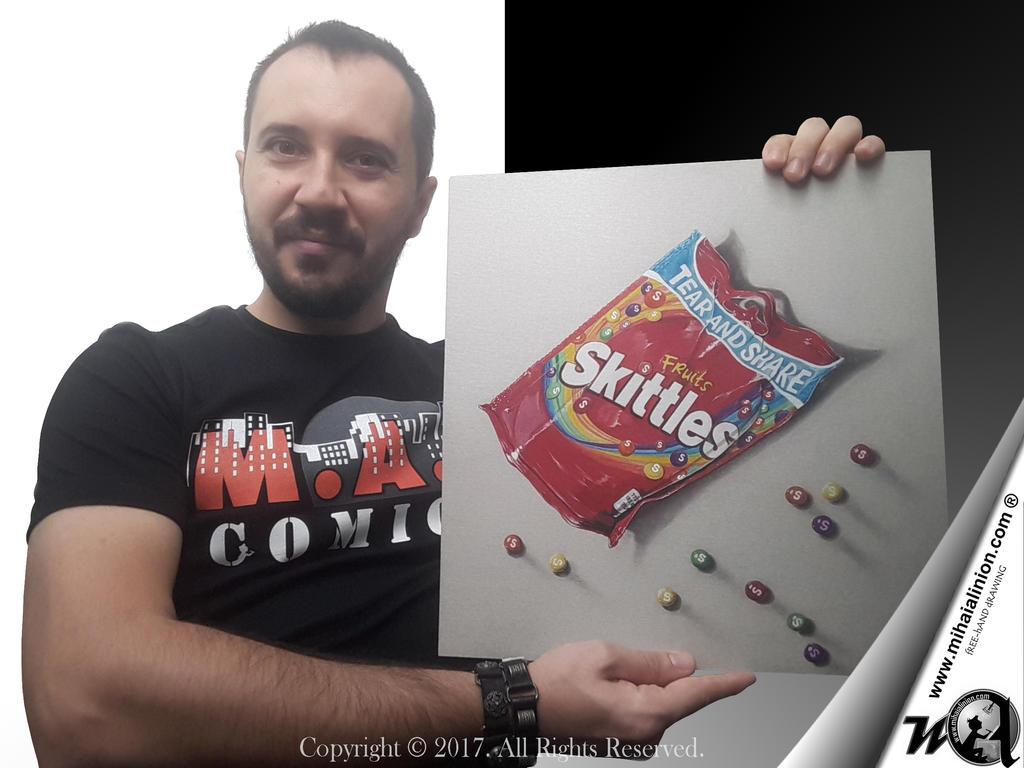 Drawing Skittles - Realistic 3D Art