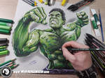 Drawing Incredible Hulk - Realistic 3D Art