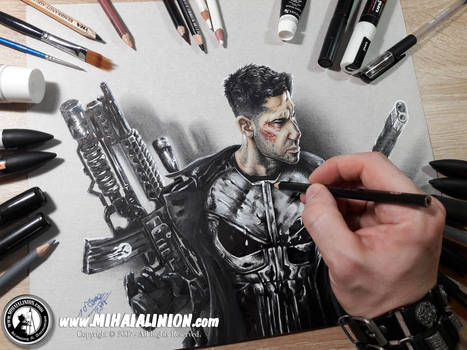 Drawing The Punisher - Frank Castle