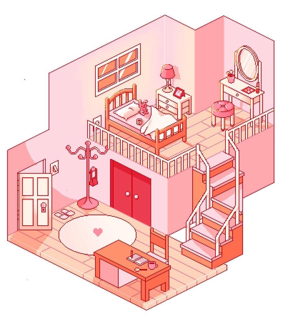 Kawaii Pixel Art Isometric Room By Galaxxieart On Deviantart