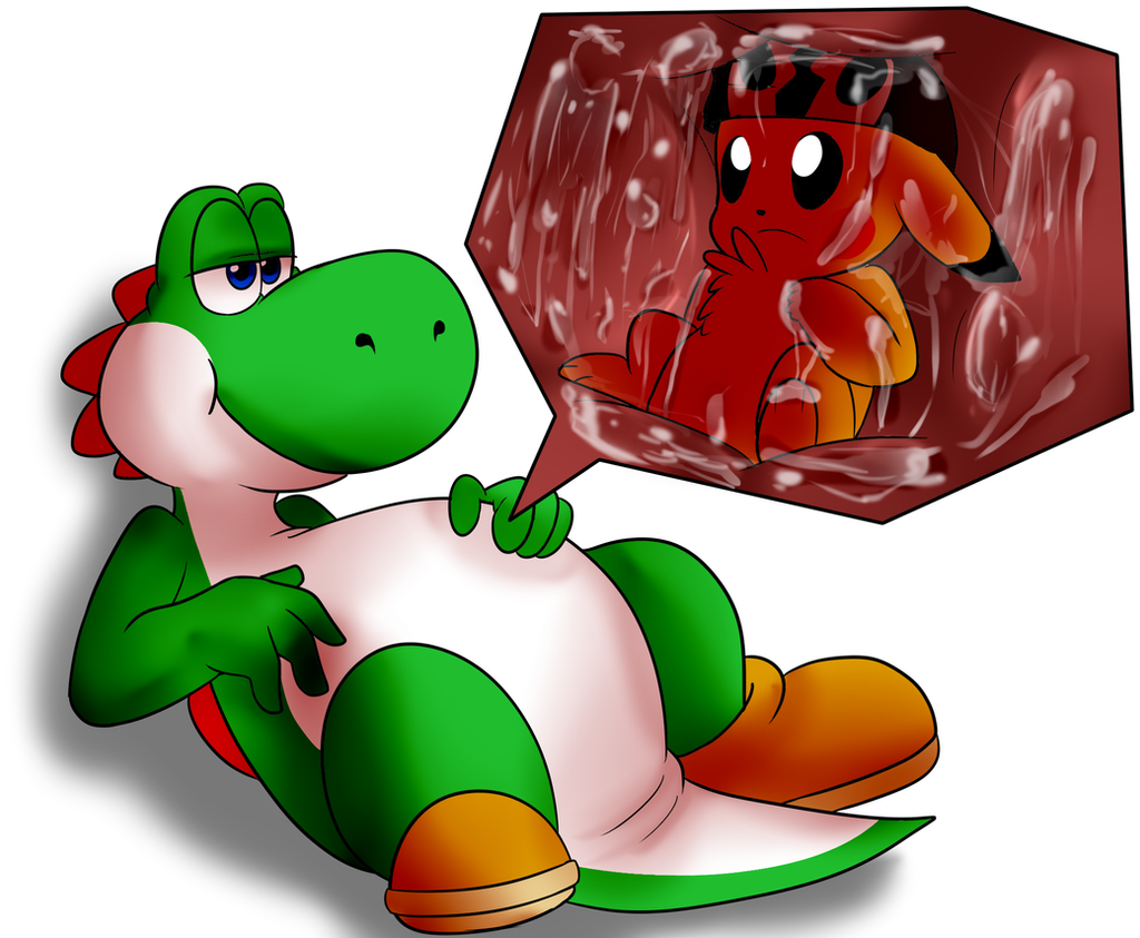 commish yoshi vore by baconbloodfire on deviantart. Black Bedroom Furniture Sets. Home Design Ideas