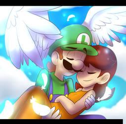 LuigiXDaisy: the sky
