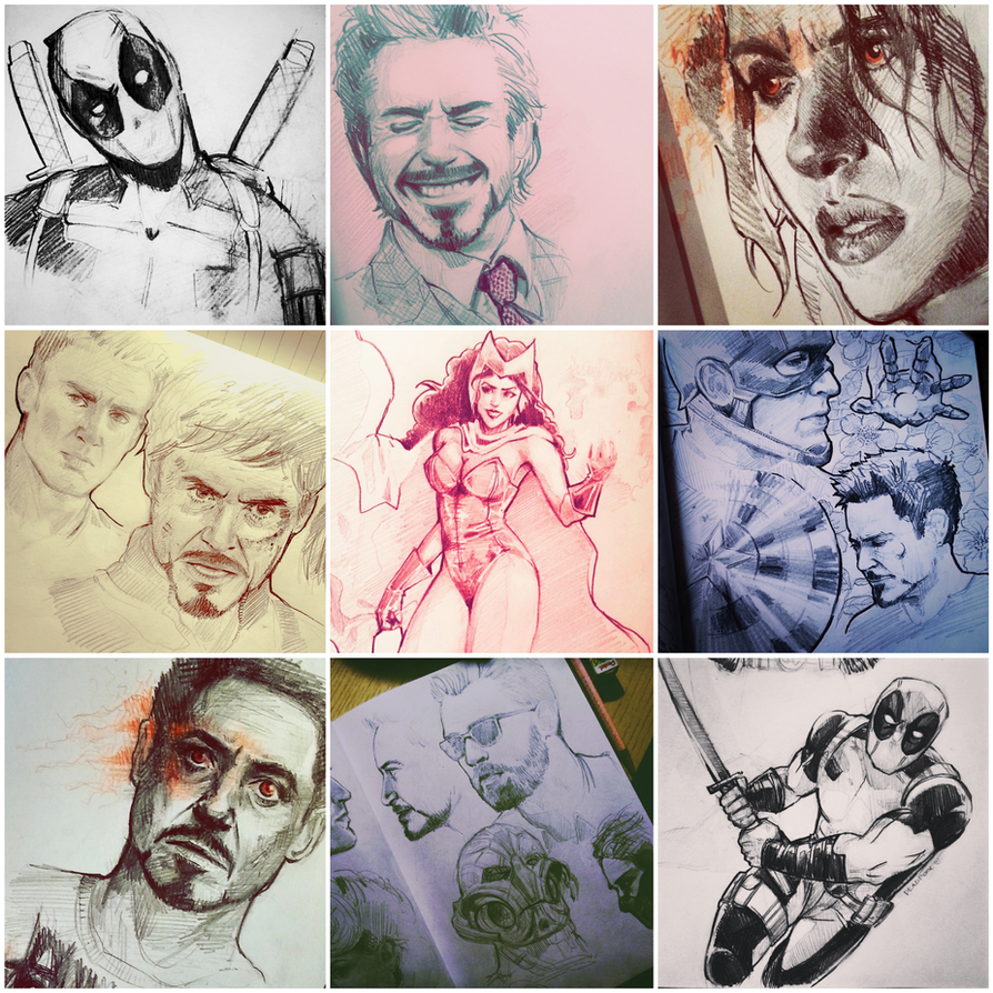 2015 marvel sketches by skyna