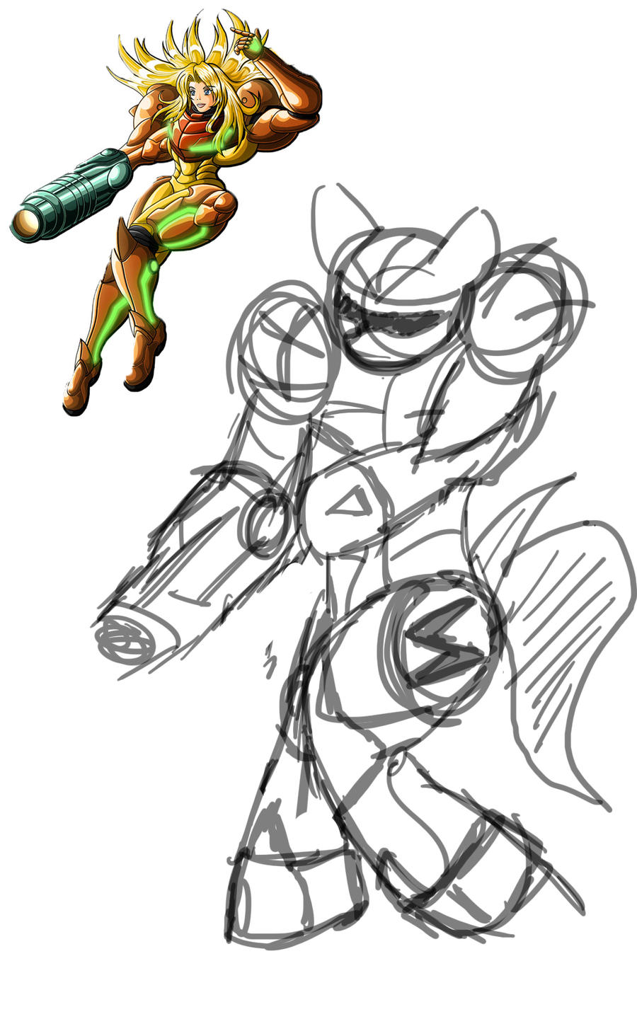 Samus Maren - Rough Sketch by aoshistark