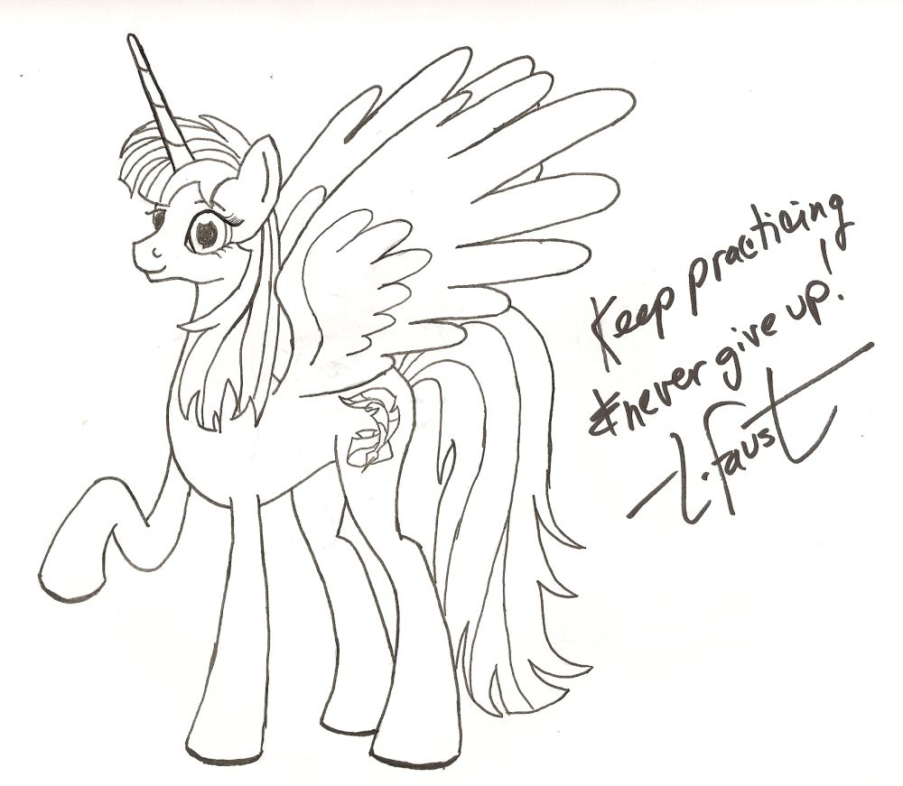 Lauren Fausticorn with Autograph! by aoshistark