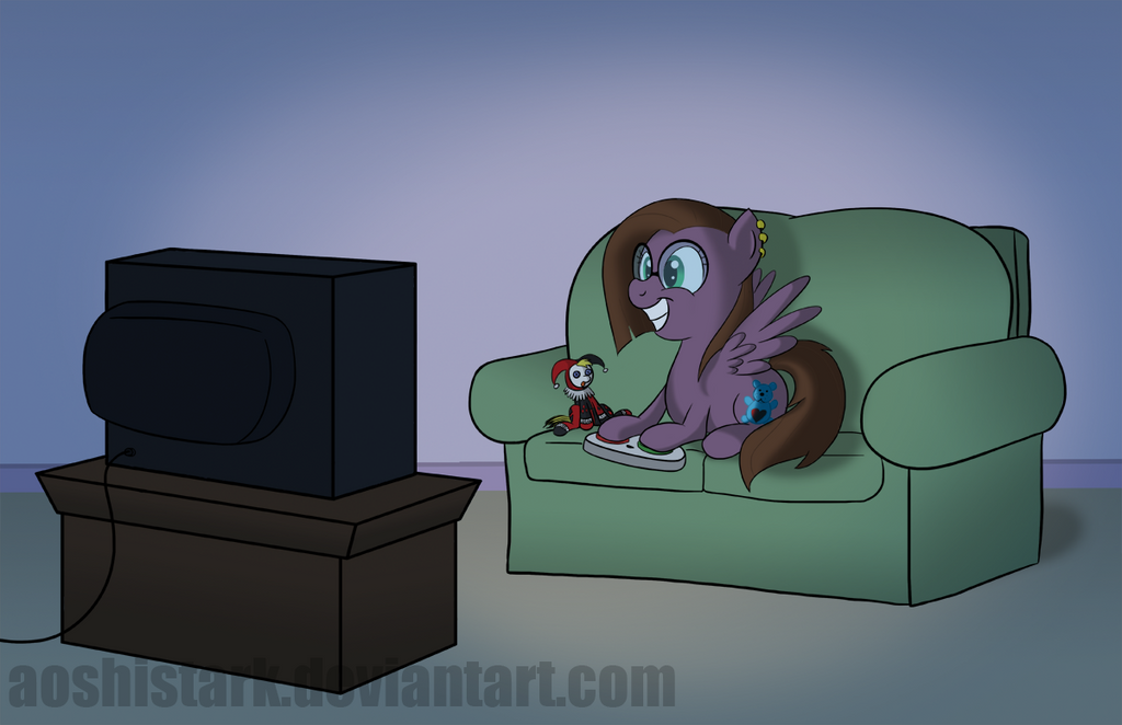 Full Commission - Gamer Pony by aoshistark