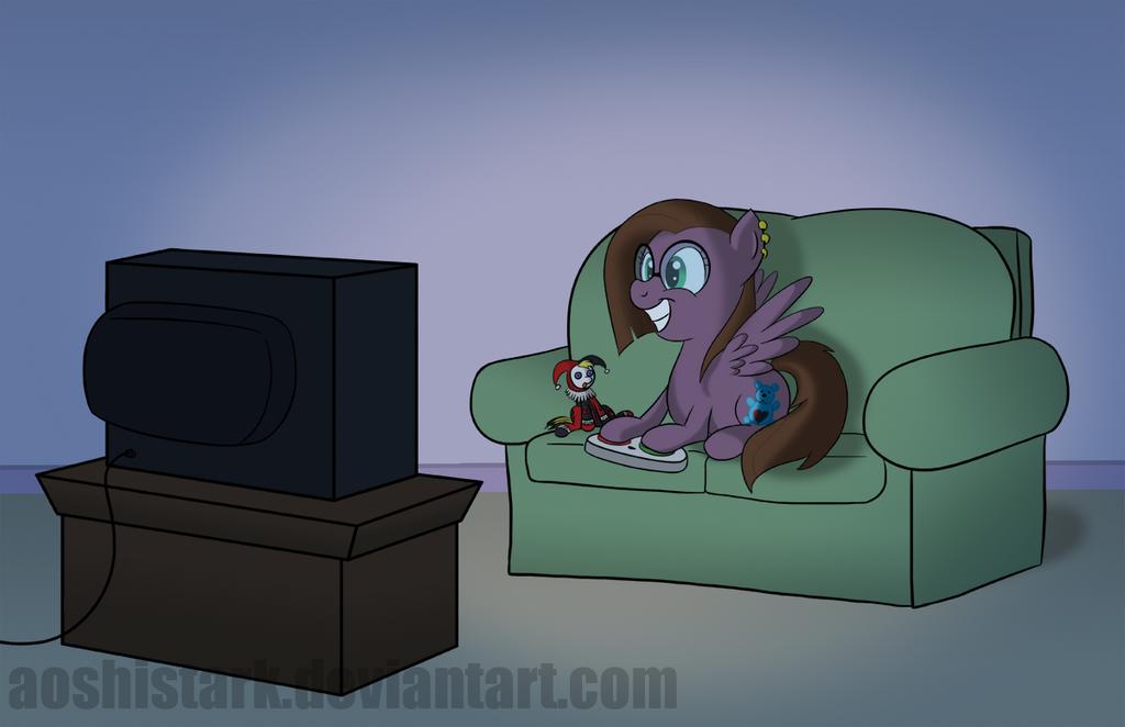 Full Commission - Gamer Pony by aoshistark