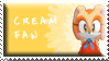 Cream Fan Stamp by Fastmon