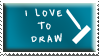 I love to draw stamp by Fastmon
