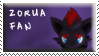 Zorua Fan Stamp by Fastmon