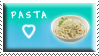 Blue Pasta Stamp by Fastmon