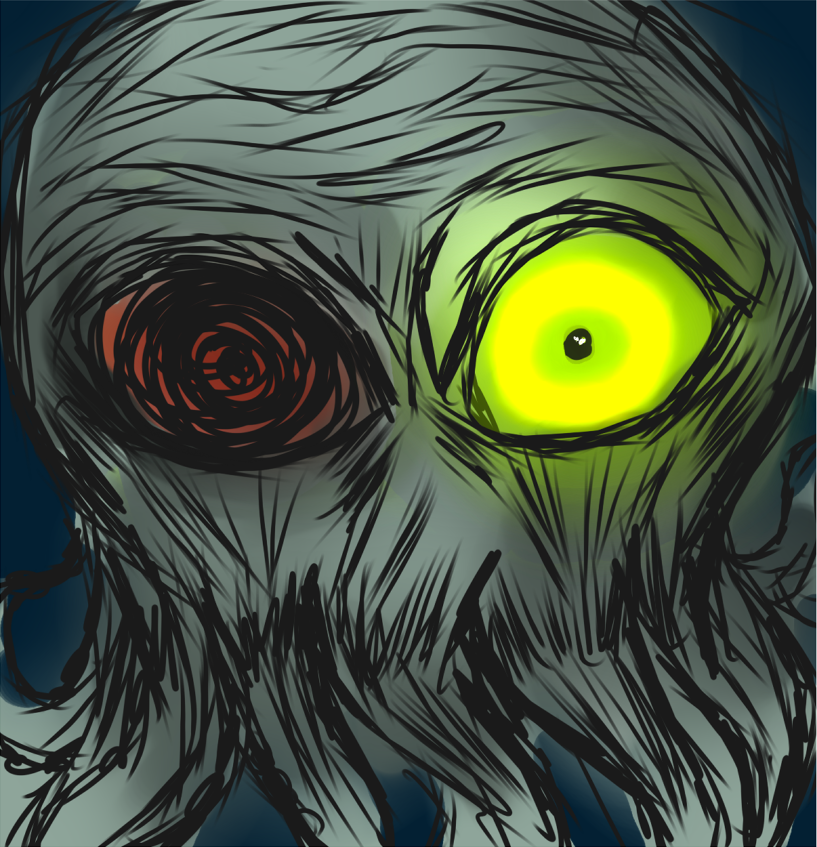 Zombie cthulhu doodle by SpeakEvil