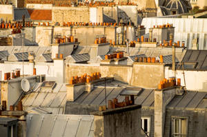 rooftops of Paris building in France
