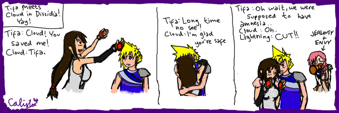 Cloud and Tifa in DDFF by AnotherSasukeFan on DeviantArt  Final Fantasy Cloud And Tifa Fanfiction