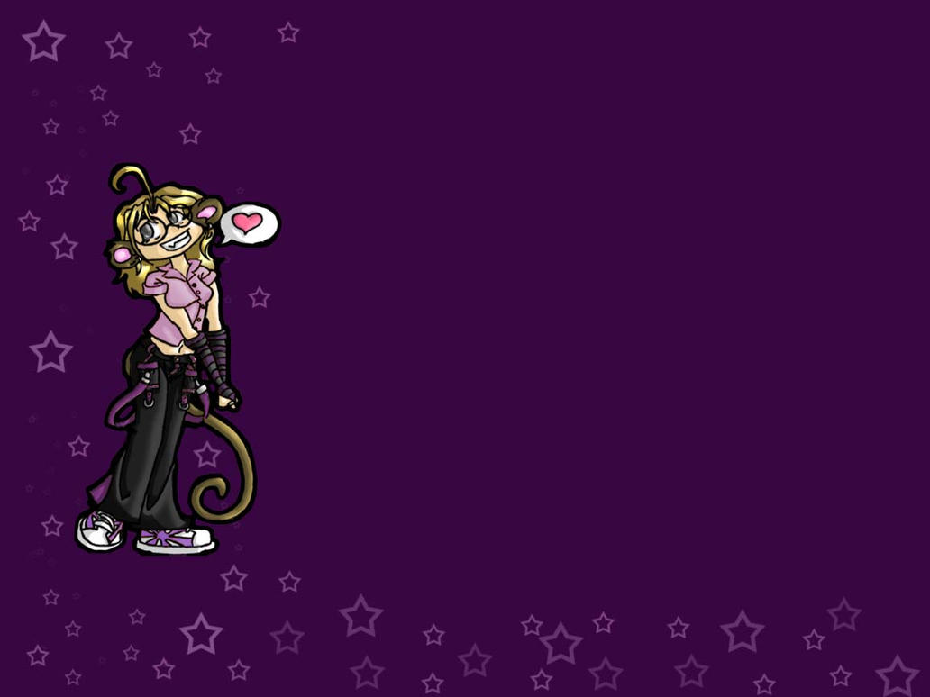 Purple Star Monkey By ChaoticMatter