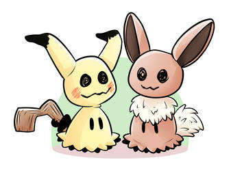 Mimikyu Variant - Let's Go Pikachu and Eevee by CalmChapsArt