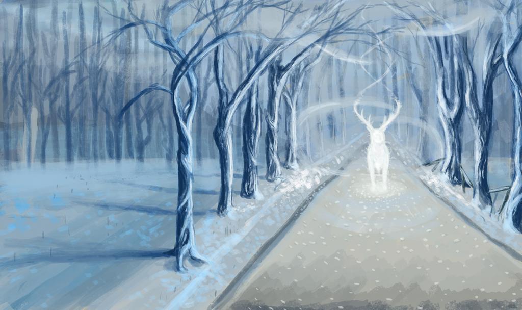 Deer of Winter by Khrestos