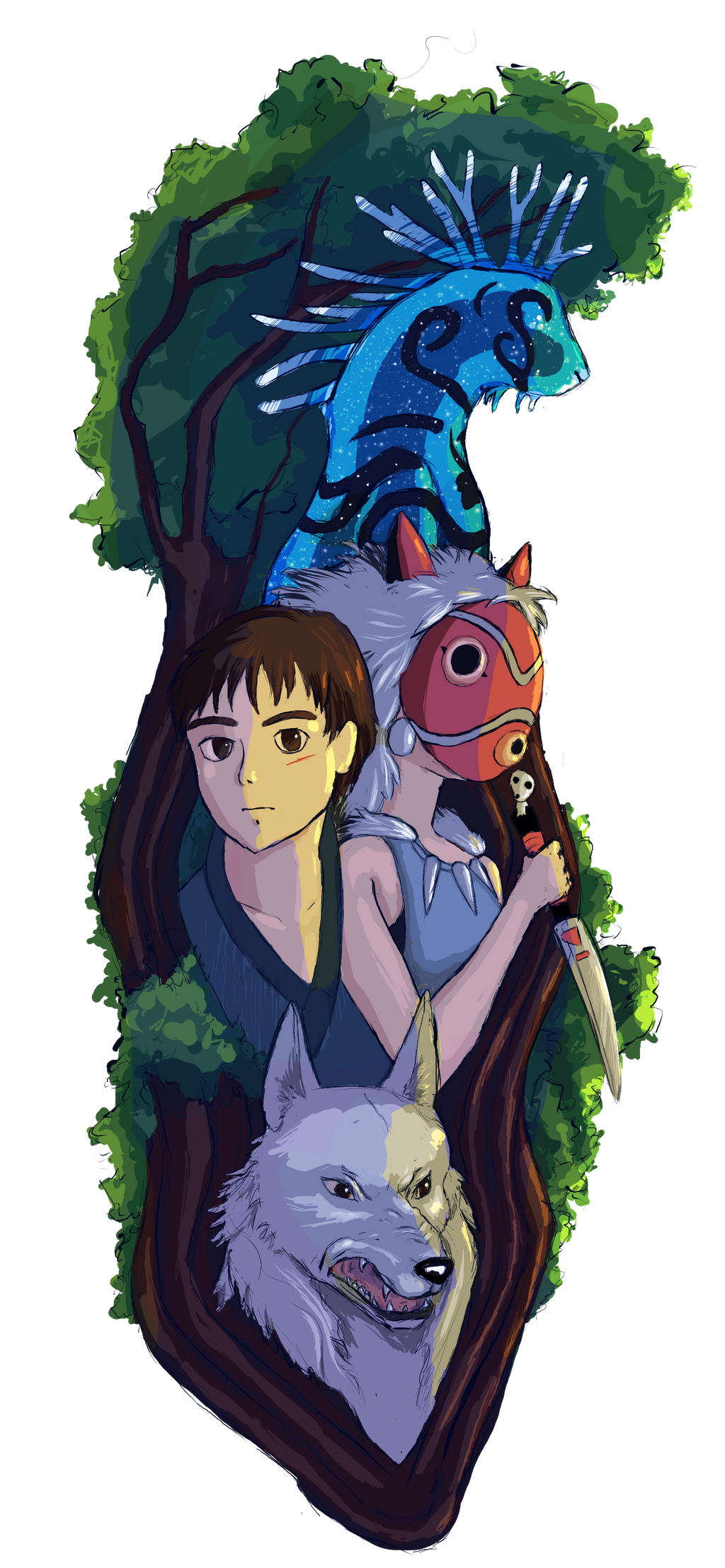 Princess Mononoke Character Collage Commission By Khrestos On Deviantart