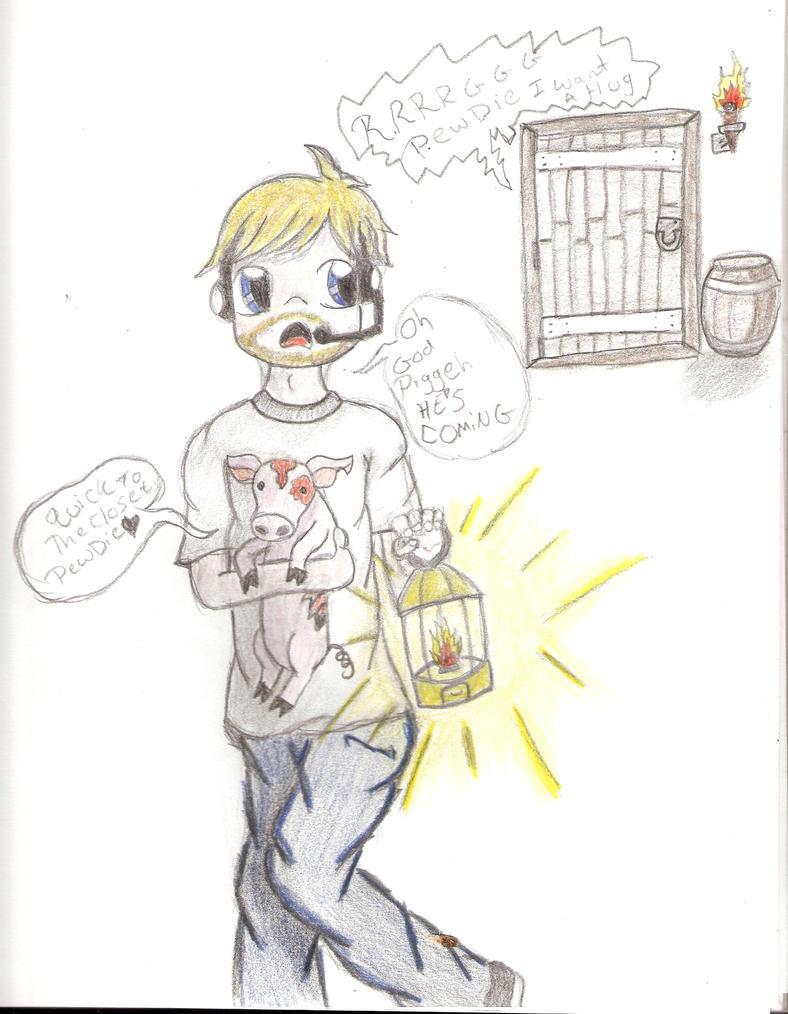 PewDiePie and Piggeh by BunnyStark on deviantART
