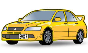 Evo VII vectorized by twinware