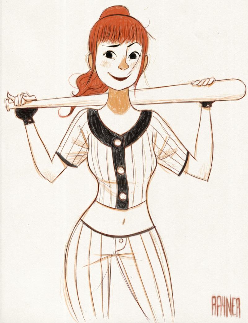 Baseball Girl by RaynerAlencar