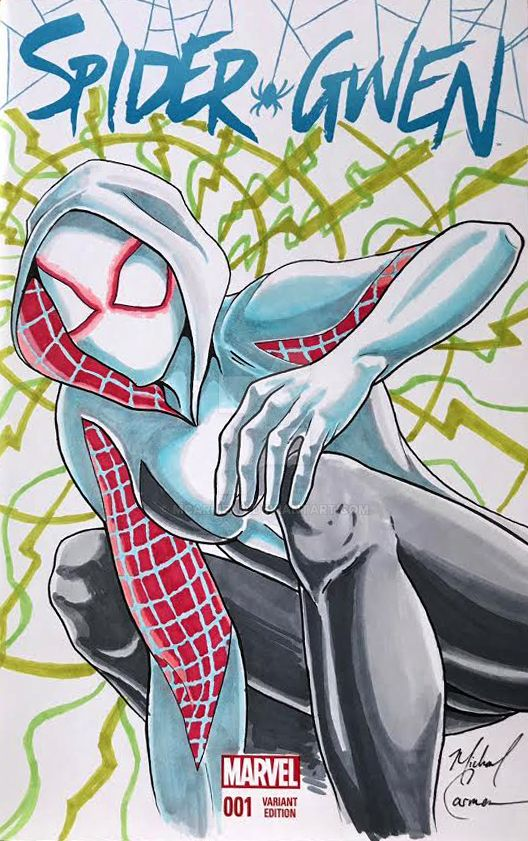 Spider Gwen(3) Issue 1 Sketch Cover by MCarmean