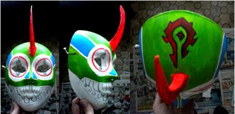 Murloc Mask in progress by CorbeauBleu